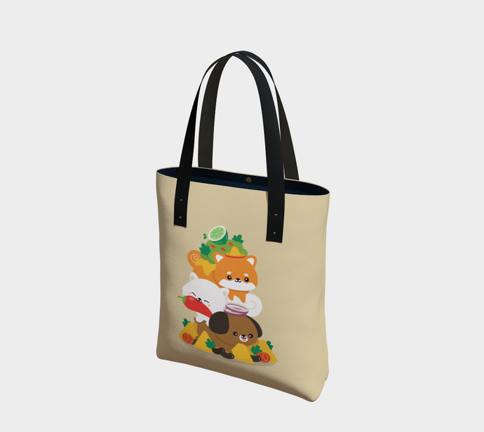 Dog Stack Tote - Vegan Leather