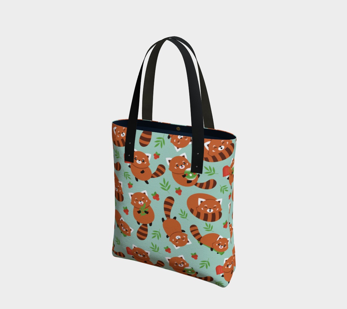 Red Panda Tote - Vegan Leather