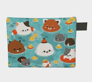 Ocean Full of Cuteness Flat Pouch