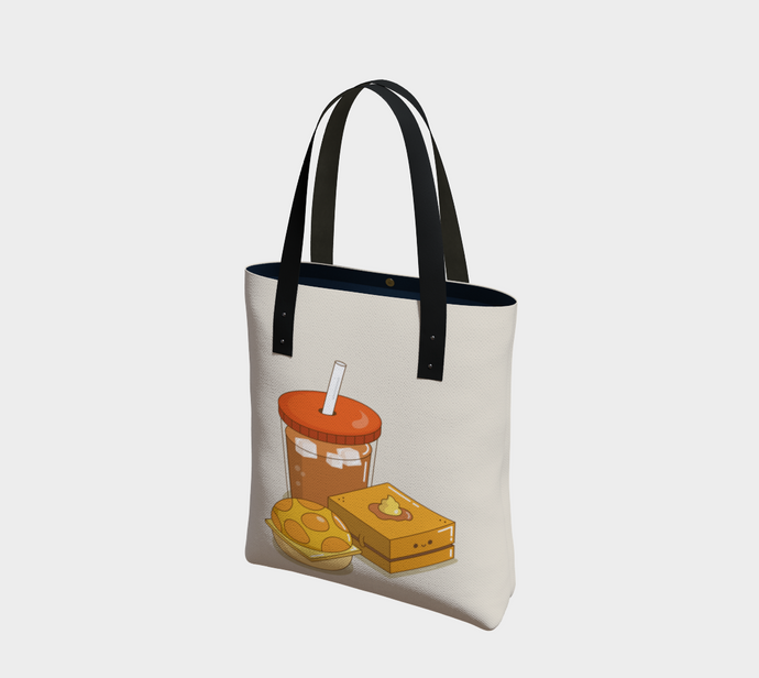 HK Afternoon Snacks Tote - Vegan Leather