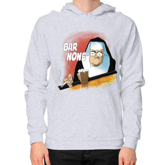 Hoodie (on man) Heather grey WordPlay T-Shirts