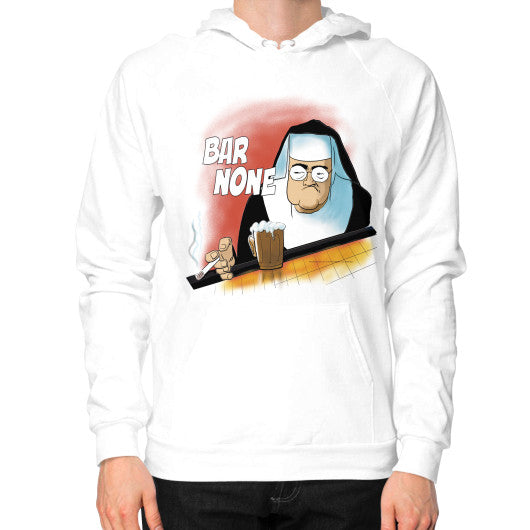 Hoodie (on man) White WordPlay T-Shirts