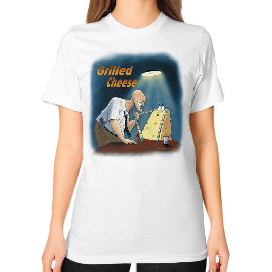 Unisex T-Shirt (on woman) White WordPlay T-Shirts