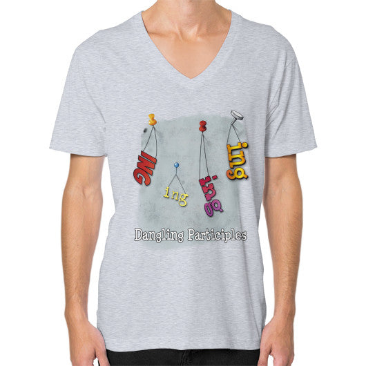 V-Neck (on man) Heather grey WordPlay T-Shirts