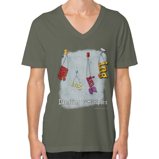 V-Neck (on man) Lieutenant WordPlay T-Shirts