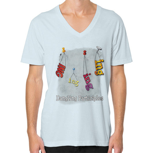 V-Neck (on man) Light blue WordPlay T-Shirts
