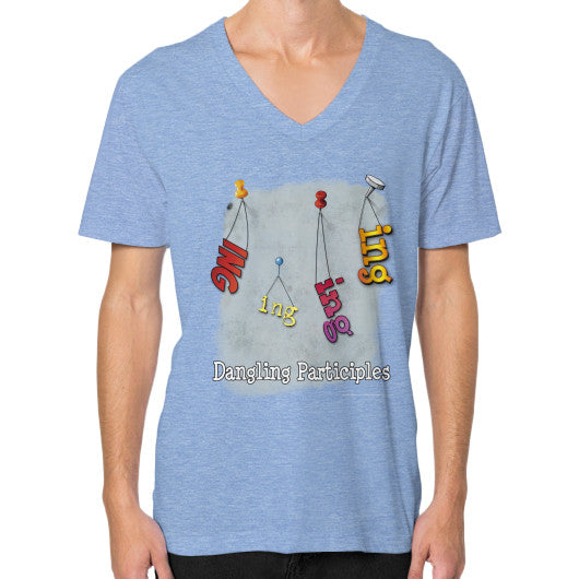 V-Neck (on man) Tri-Blend Blue WordPlay T-Shirts
