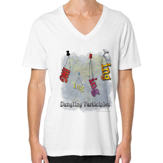V-Neck (on man) White WordPlay T-Shirts