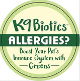 Don't let your dog suffer with biting and scratching from allergies? K9Biotics is the pet supplement for your canines! 5oz