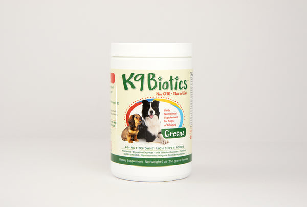 Is your dog suffer with biting and scratching from allergies? K9Biotics is the allergy supplement for your canines! 9OZ