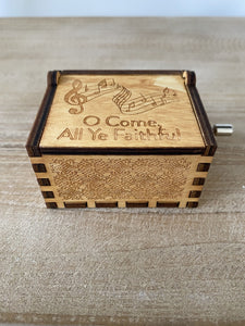 O Come All Ye Faithful Custom Music Box