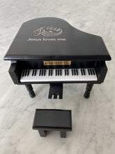 Load image into Gallery viewer, Jesus Loves Me Black Piano Custom Music Box