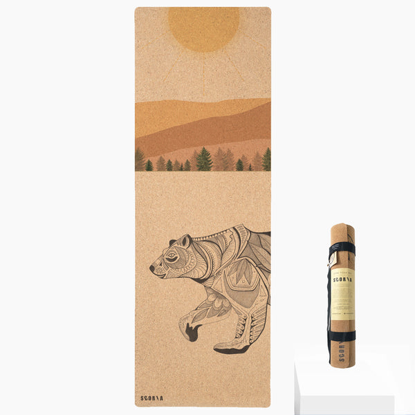 Day Bear Cork Yoga Mat | 3.5MM | Collab Edition - Scoria