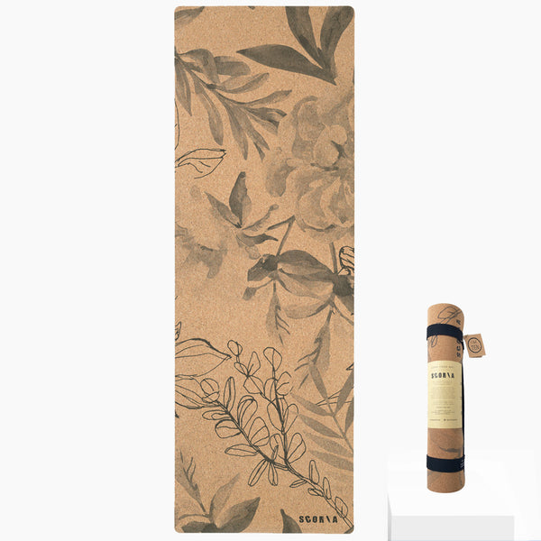Blossom Cork Yoga Mat | 5MM - Scoria