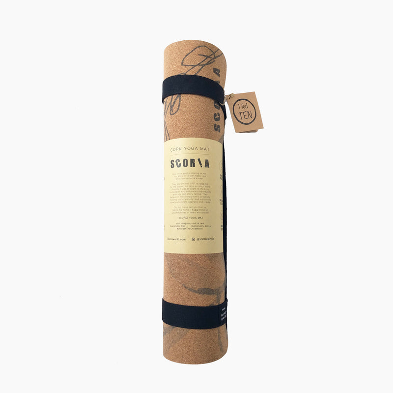 Blossom Cork Yoga Mat | 4.5MM - Scoria