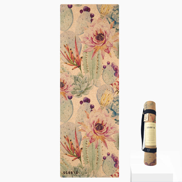 Botanicals Cork Yoga Mat | 4.5MM - Scoria