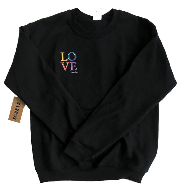 Love More Sweatshirt - Scoria