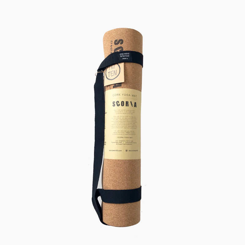 Extra Tall Essential Cork Yoga Mat | 3.5MM | 6′8 long - Scoria