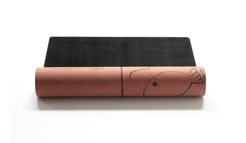 Alignment Cork Yoga Mat (3.5MM) - Scoria