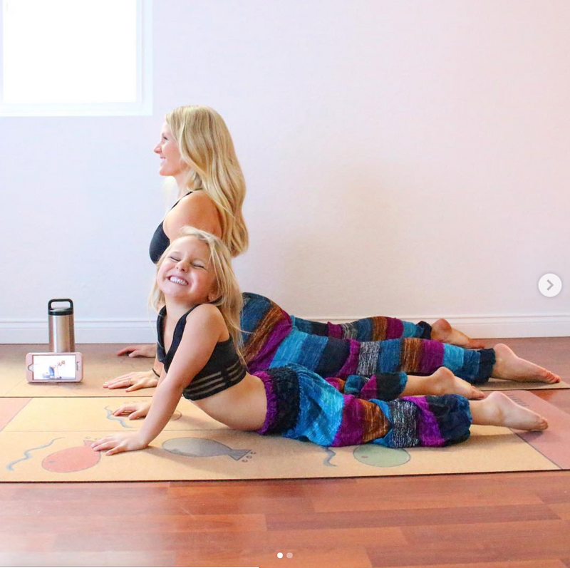 Kids BIG Cork Yoga & Non-Toxic Play Mat - Scoria