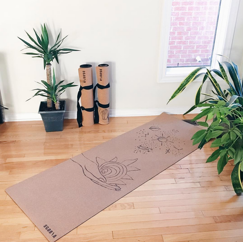 Universe Cork Yoga Mat | 4.5MM | Limited Edition - Scoria