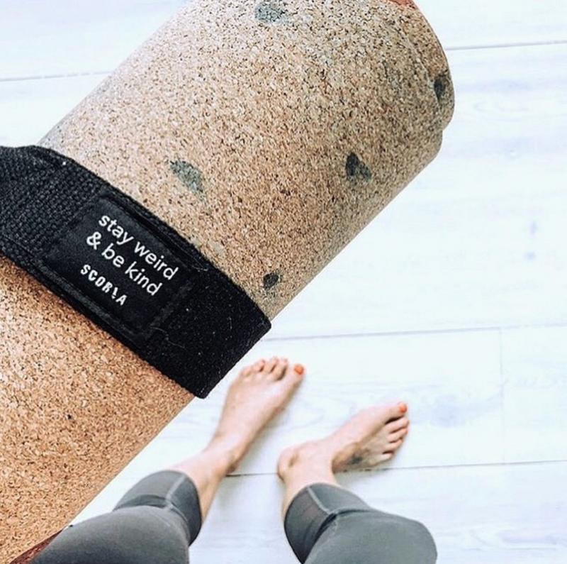 Mat Carry Strap (Stay Weird & Be Kind) - Scoria