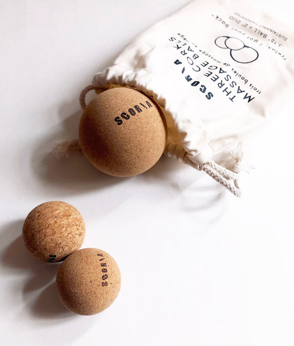 Cork Massage Balls (Set of Three) - Scoria