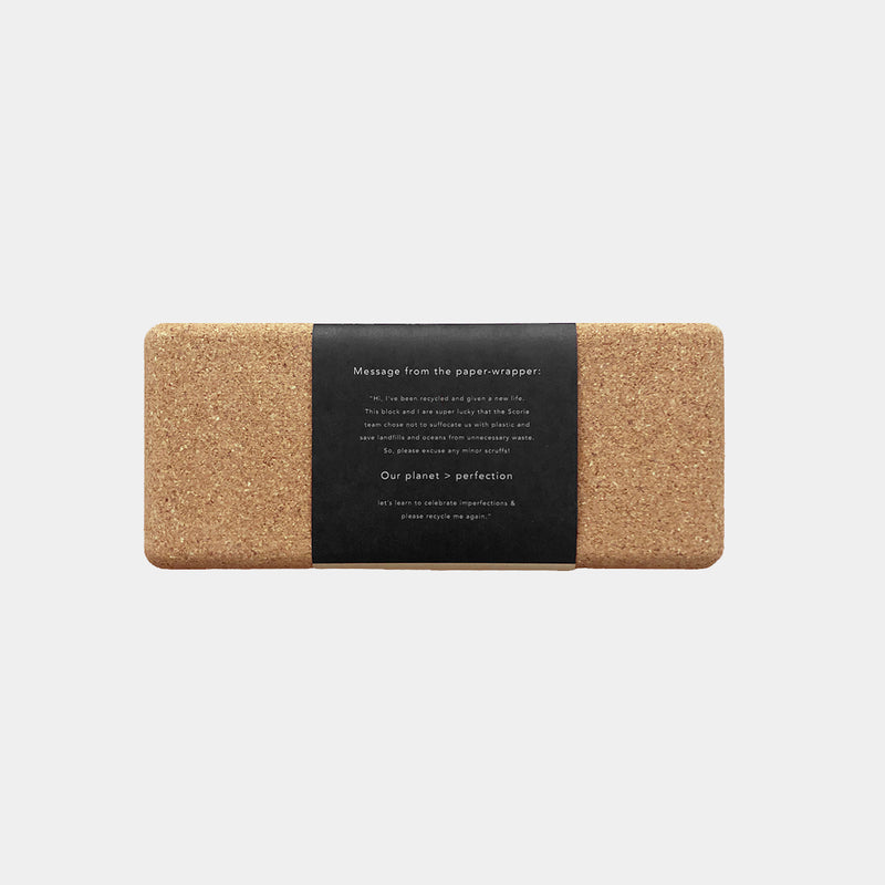 Moon Cork Brick (100% Natural Cork Yoga Block)