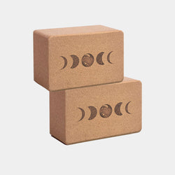 moon phases cork yoga block