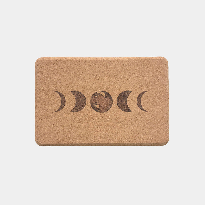 moon phases cork yoga block scoria