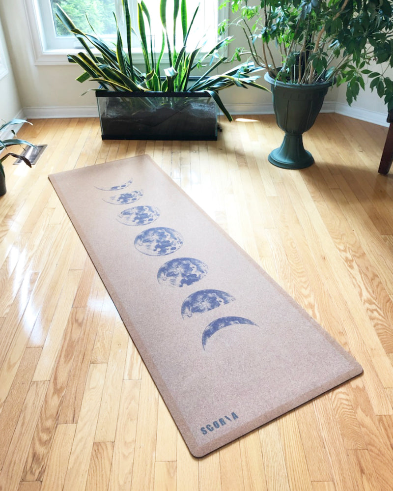 *PRE-ORDER* Moon Phases Cork Yoga Mat (4.5MM) - Scoria