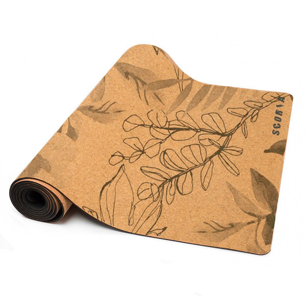 Blossom Cork Yoga Mat (5MM) - Scoria