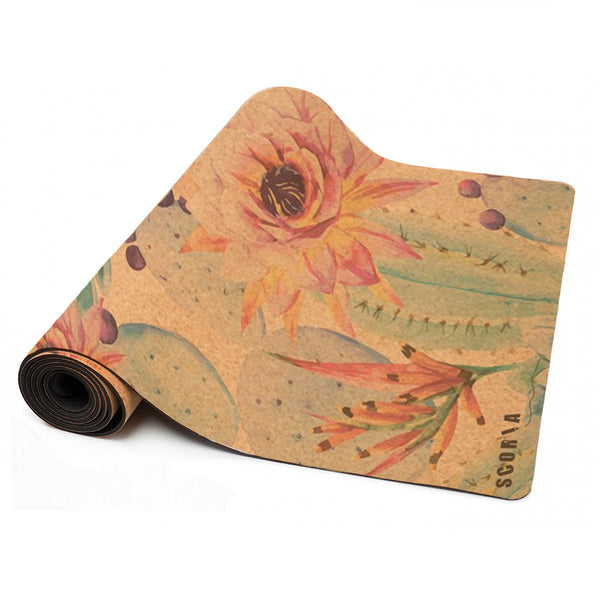 Botanicals Cork Yoga Mat (4.5MM) - Scoria