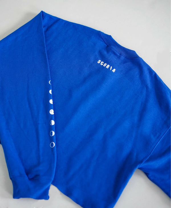 Moon Phases Blue Sweatshirt - Scoria