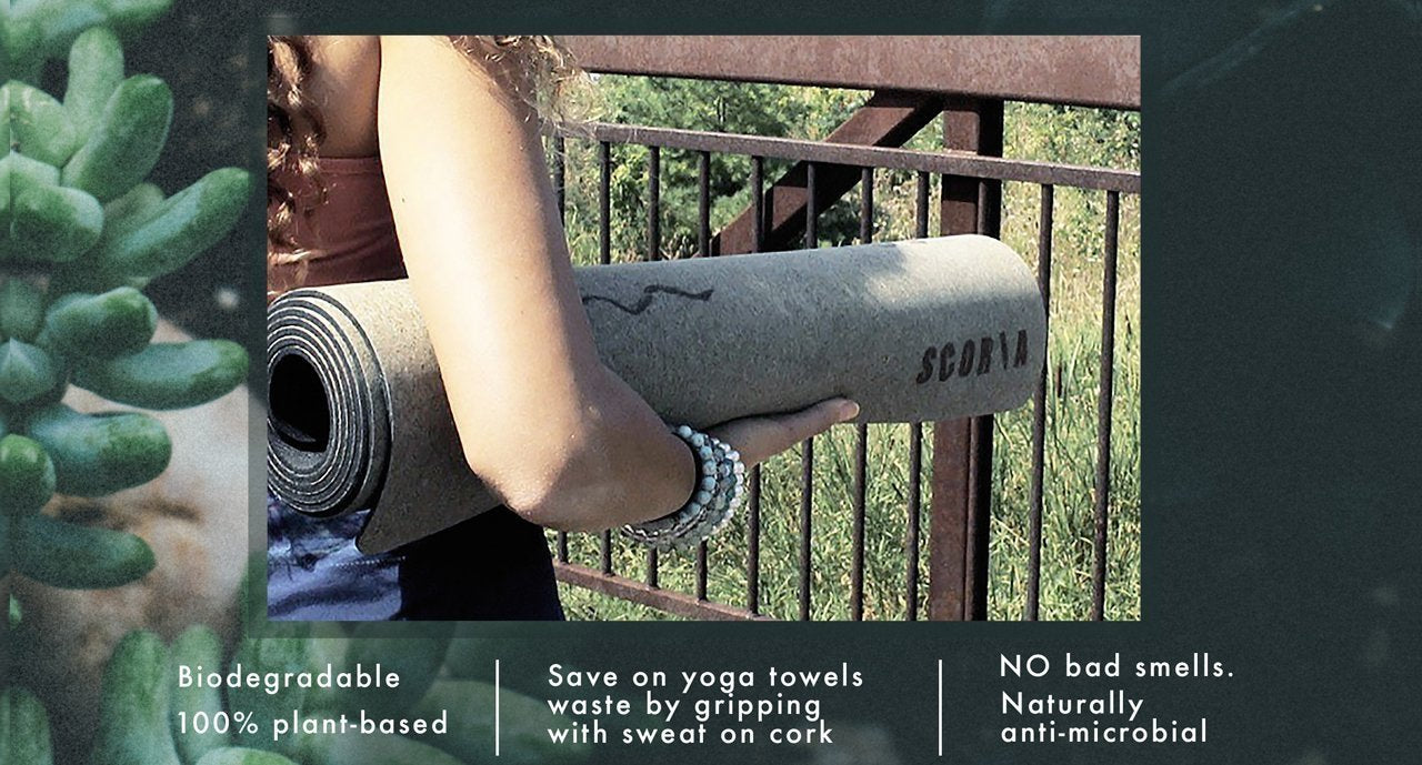 Best Cork Yoga Mat for Hot Yoga born in Canada Toronto Ontario Vancouver best Grip by Scoria from Canada Toronto featuring Botanicals our new artist printed yoga mats that are non-toxic California Cork Yoga Mats