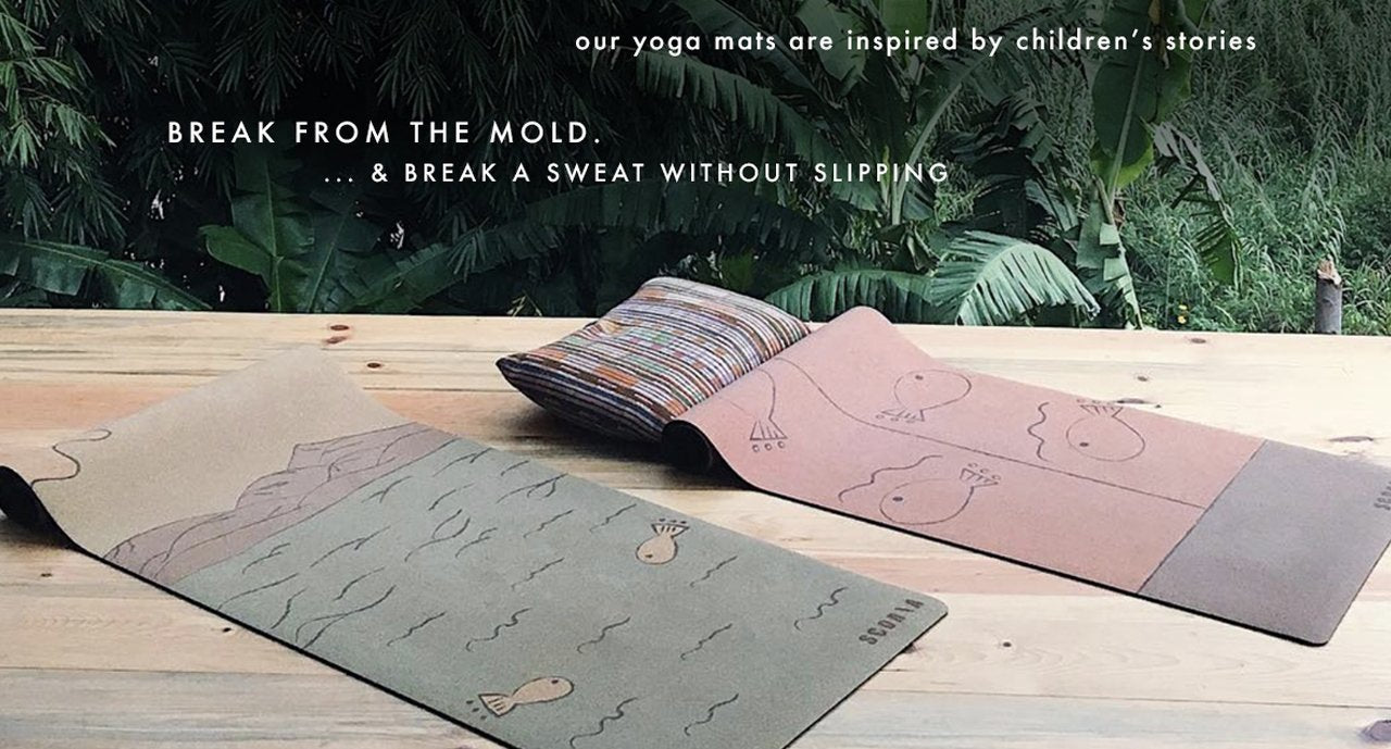 Best Cork Yoga Mat for Hot Yoga born in Canada Toronto Ontario Vancouver best Grip by Scoria from Canada Toronto featuring Botanicals our new artist printed yoga mats that are non-toxic California Cork Yoga Mats North America Waste Free