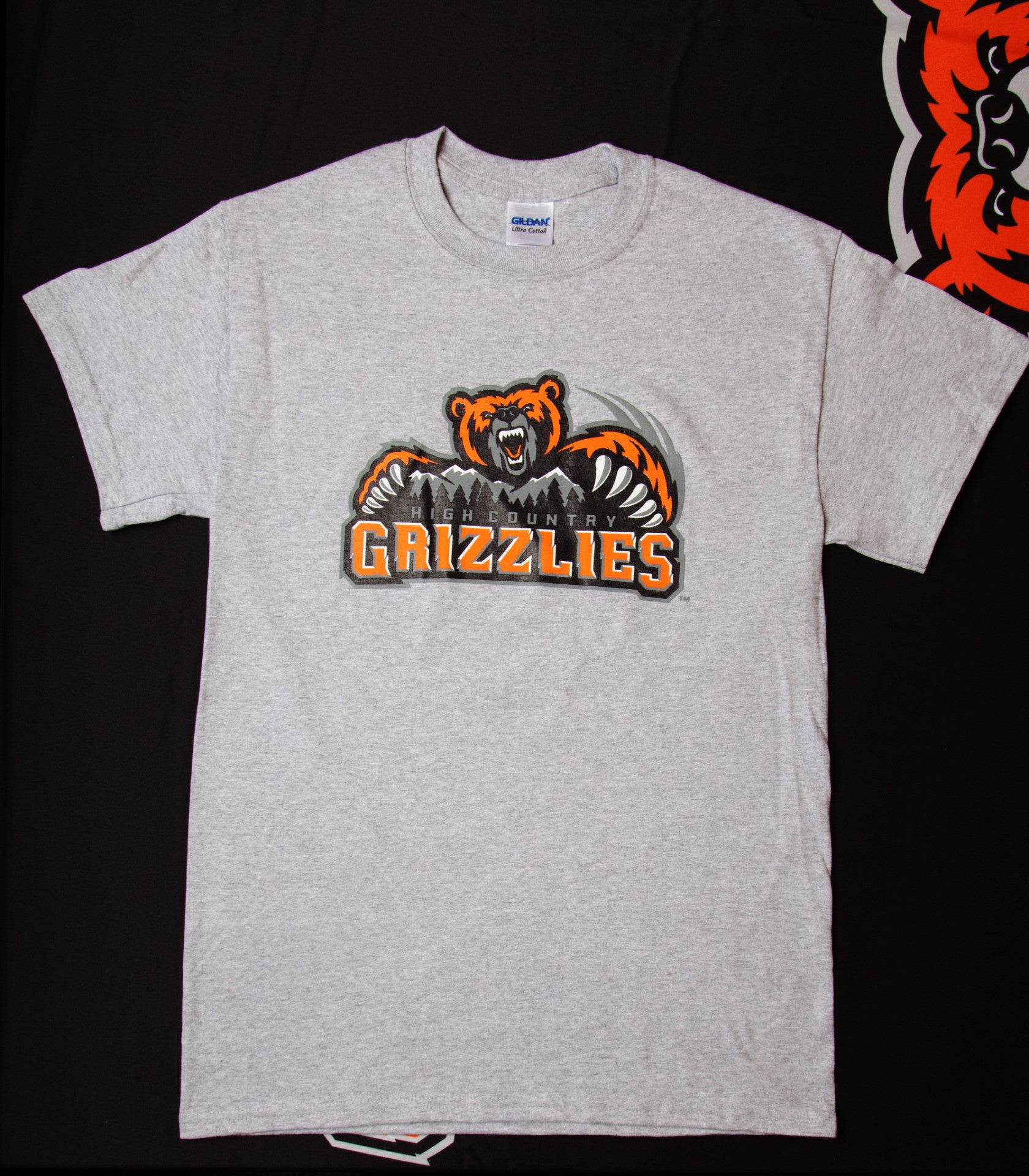High Country Grizzlies Short Sleeve T-Shirt- Grey