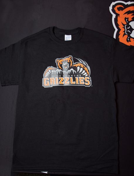 High Country Grizzlies Short Sleeve T-Shirt- Black