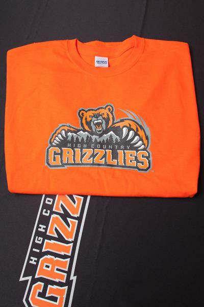 High Country Grizzlies T-Shirt Short Sleeve- Orange
