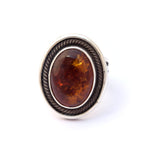 Amber Twist Frame Ring : Size 6.25