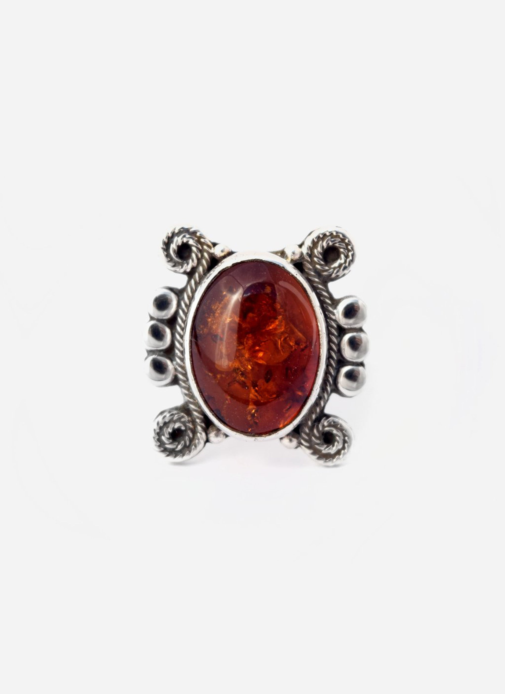 Amber Twirl Ring : Size 6