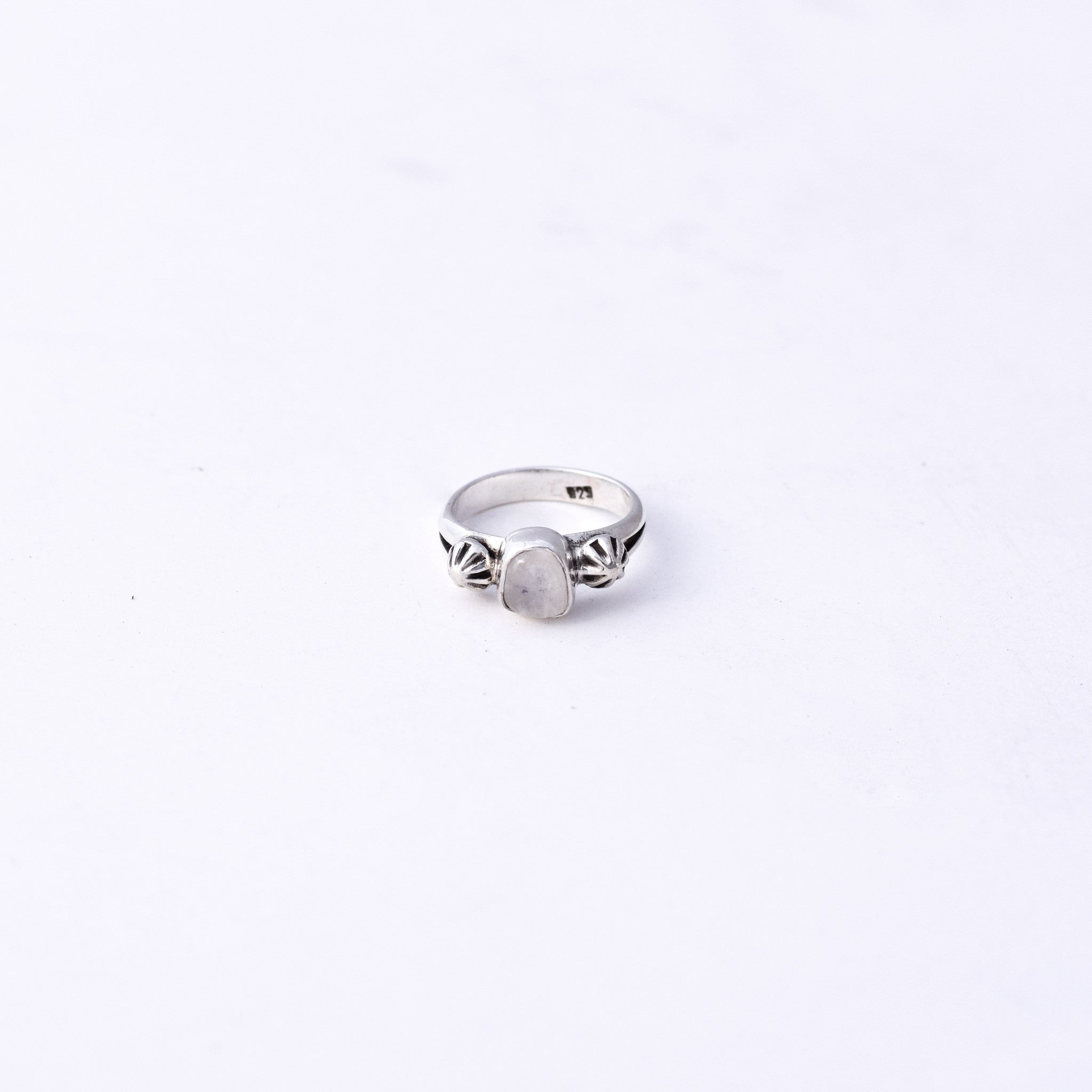 Studded Moonstone Ring : Size 5