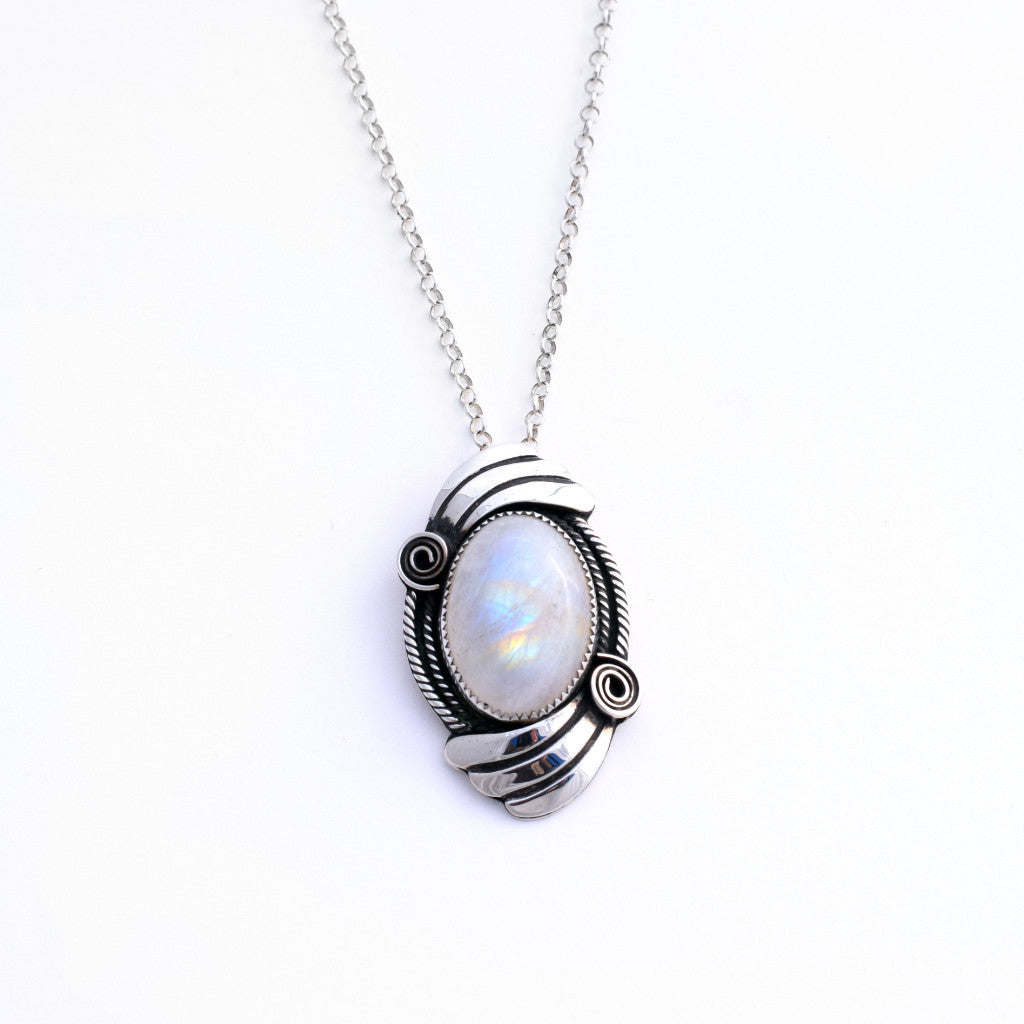 Swirling Moonstone Necklace
