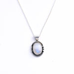 Framed Moonstone Necklace