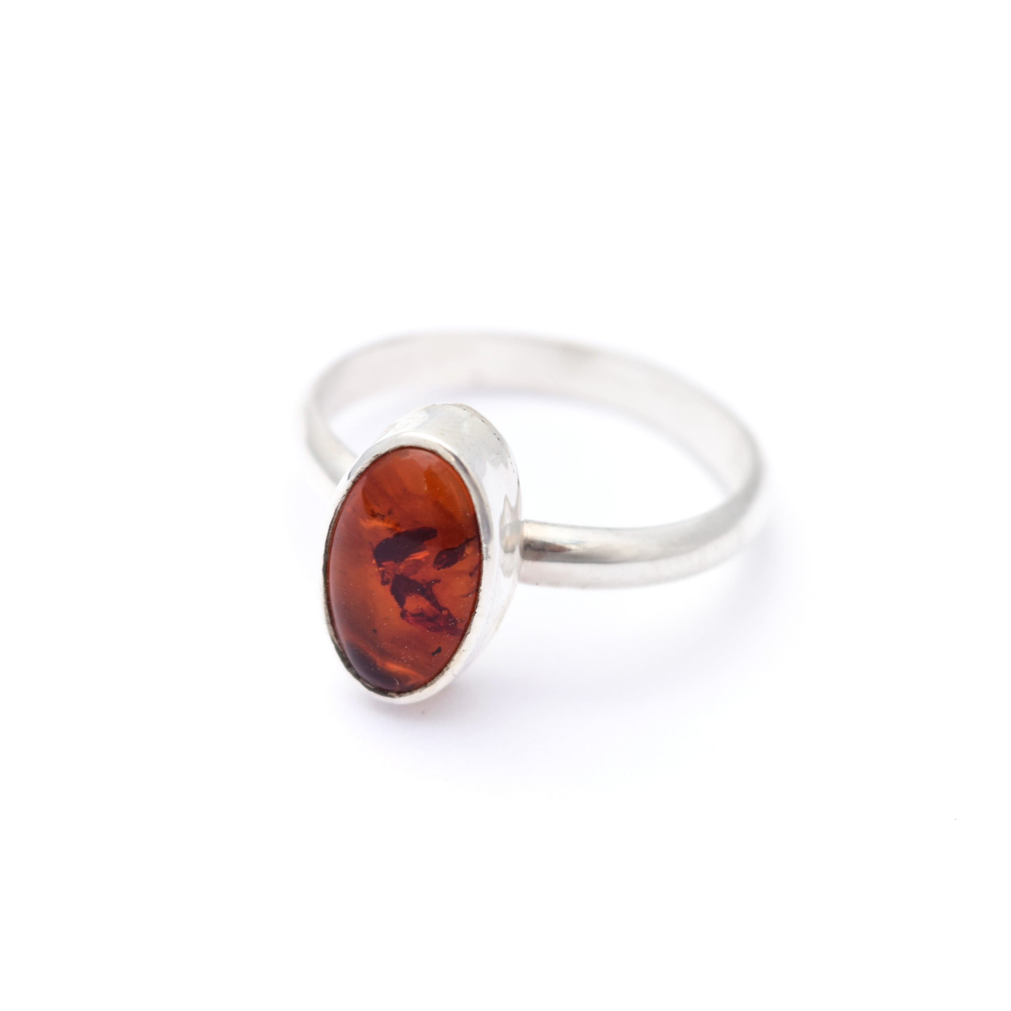 Simple Amber Ring