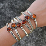 Amber Twist and Stamped Cuff