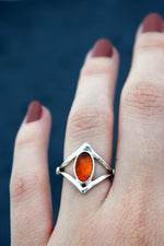 Amber Valhalla Ring : Size 5