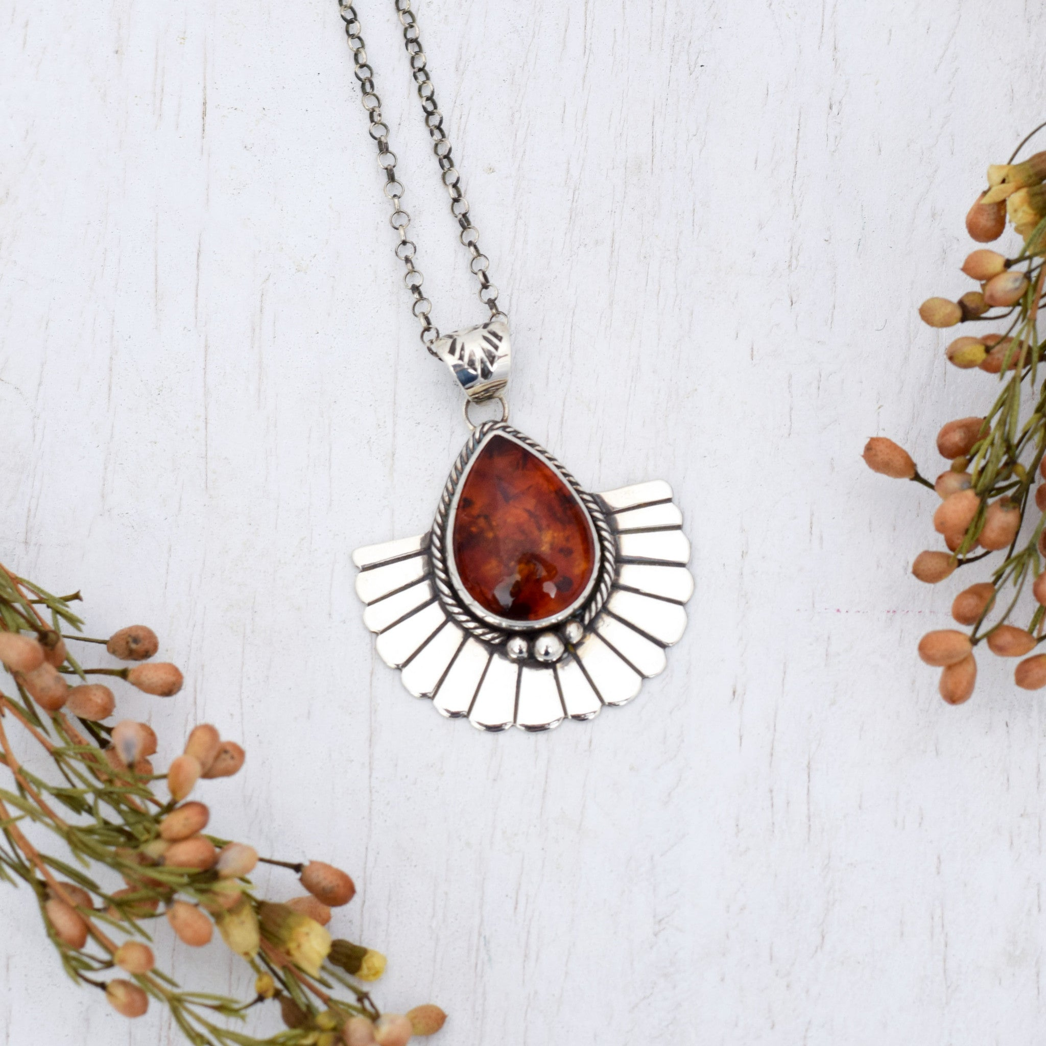 Amber Rays Necklace