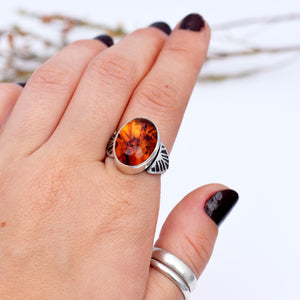 Amber Wing Ring : Size 7
