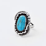 'Mary' Kingman Turquoise Ring : Size 6